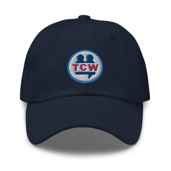 classic dad hat navy front 60956e6e7bb9b